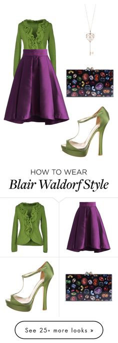 """""""Blair Waldorf style"""" by ladydaisy on Polyvore featuring Dsquared2, Chicwish, Charlotte Olympia and Tiffany & Co."""