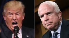 """Image copyright                  Getty Images Image caption                                      Mr Trump's """"remarks do not represent the views of our Republican Party, its officers, or candidates,"""" Mr McCain said                                Senator John McCain and Republican leaders have sharply condemned Donald Trump's remarks about the family of a fallen US Muslim soldier.  Mr McCain said Mr Trump did not have an &qu"""