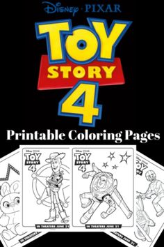 Print your Toy Story 4 coloring pages and activity sheets! Toy Story 4 opens in theaters everywhere June this summer! Toy Story Coloring Pages, Disney Coloring Pages, Coloring Pages To Print, Free Printable Coloring Pages, Coloring Book, Free Printables, Toy Story Birthday, Toy Story Party, 4th Birthday