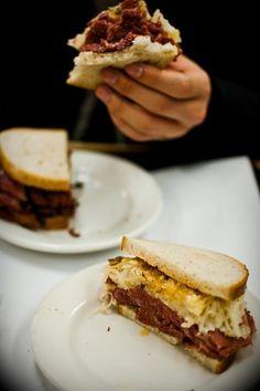A sandwich at Katzs Deli New York - 10 Cheap Eats in New York
