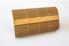 Wood Clutch Purse / Laser Cut Living Hinge by LaseredDesign