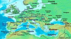 Image result for map of europe in the early middle ages