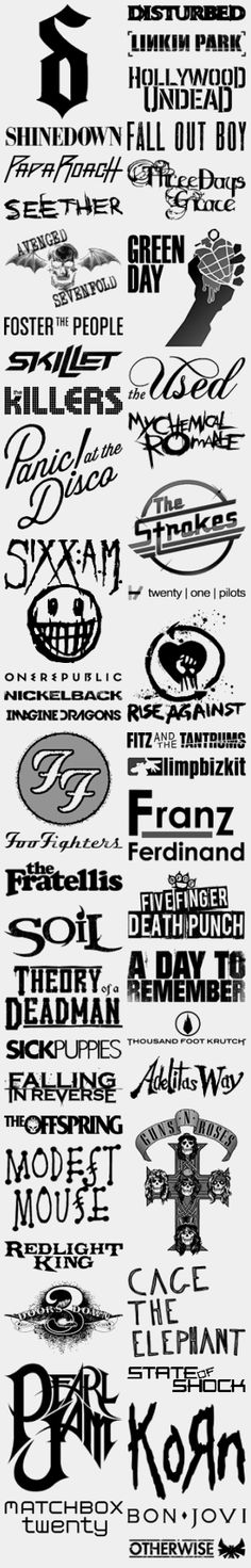 Some of the bands I like