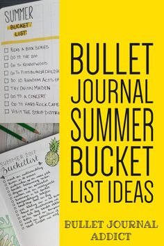 Bullet Journal Summer Themes - Bullet Journal Inspiration For Summer - Summer Bullet Journal Bucket List Ideas #bulletjournal #bujo #bujolist #bujolove #bujo2019 #summer #bucketlist #bulletjournalcollection #bujocollection