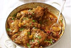 Chicken Tagine ~ Moroccan-style main dish, serve with couscous recipe from the book 'Mary Berry Cooks the Perfect' via the Daily Mail Tagine Recipes, Couscous Recipes, Mary Berry Cooks, Tagine Cooking, Moroccan Chicken, Moroccan Bread, Perfect Chicken, Cooking Recipes, Healthy Recipes