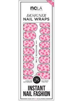 NCLA Beach Babe nail wraps