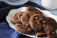 Gluten-free chewy double chocolate cookies