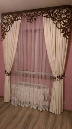 Kitchen Curtain Designs, Curtain Designs For Bedroom, Latest Curtain Designs, Window Curtain Designs, Bedroom Bed Design, Curtain Pelmet, Curtains And Draperies, Luxury Curtains, Home Curtains