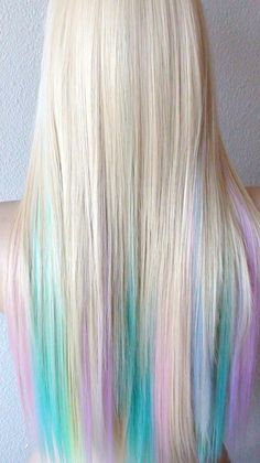 Summer Special // Blonde / Pastel color highlights by kekeshop Maybe just with the light pink?!