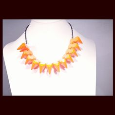 sugar sugar orange spike necklace