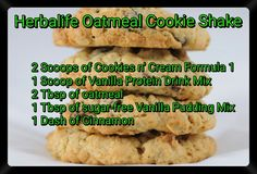 Herbalife Oatmeal Cookie Shake Recipe