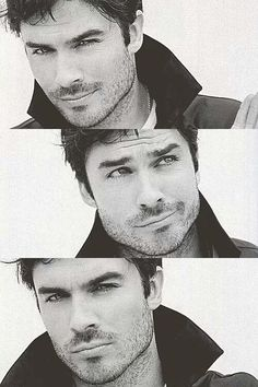 Ian Somerhalder. I did not particulary like him. I mean there's a lot of handsome guys etc etc BUT when he's playing Damon he does so many kind of faces... God I really like all those expressions.