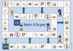 """Idea Journey: Playground """"My Body"""" (for DaZ) - Best Education Advises ! Foreign Language Teaching, German Language Learning, Teaching English, Primary School, Pre School, Maila, English Activities, Learn German, Toddler Play"""