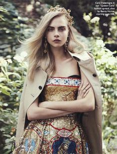 Cara Delevingne by Benny Horne in Vogue Australia october 2013