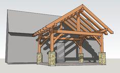 12x16 timber frame porch 4