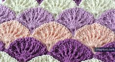 @ MyPicot - Free pattern & photo tutorial - textured shell stitch