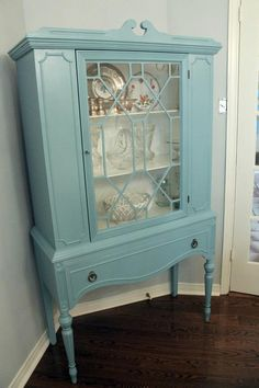 Hand Painted VINTAGE CHINA CABINET