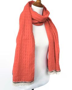 Get beautiful scarf and add smile :)))))))  Light Pink #Scarf Plaid Lace Scarf Tartan Lace by INTHEBAGDesign