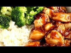 Quick Teriyaki Chicken Rice Bowls recipe - YouTube