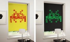 Space invaders - Retro Video Game Themed Designer Blinds