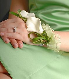 calla lily corsage Great for Grandmother's