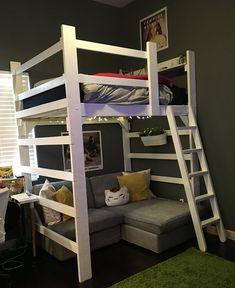 Teen Bedroom loft bed.