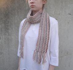 Multicolor Pink Scarf Hand Knit Luxury Women & Teen by Girlpower