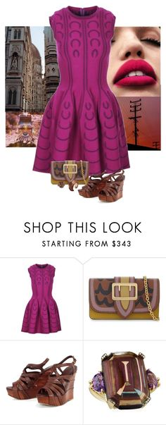 """""""Unbenannt #1285"""" by herzblut1 ❤ liked on Polyvore featuring Alaïa, Burberry, Miu Miu and Silvia Furmanovich"""