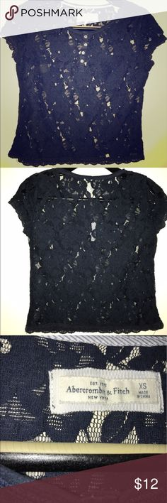Abercrombie and Fitch Short Sleeved Navy Blue Top Condition: Great condition  Brand: Abercrombie and Fitch  Color: Navy blue Abercrombie & Fitch Tops