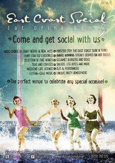 Retro A0 Poster fro East Coast Social - Burger Monday's