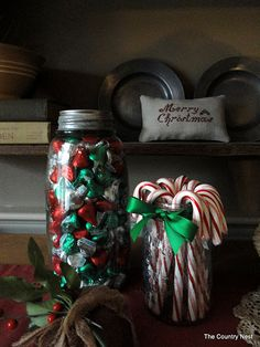The Country Nest: Christmas is coming~ idea Christmas Is Coming, Christmas Love, Christmas Goodies, All Things Christmas, Winter Christmas, Christmas Ideas, Christmas Kitchen, Merry Christmas, Christmas Candy