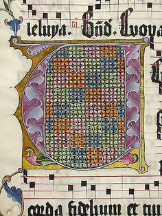 Manuscript Leaf from an Antiphonary. Second quarter 15th century. Made in, probably Mainz, Germany. Parchment, tempera, ink, metal leaf. Credit Line: Gift of Miss Alice M. Dike, in memory of her father, Henry A. Dike, 1928