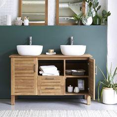 Vasque à poser céramique l.40.5 x P.40.5 cm blanc Lila Soho, Sweet Home, Vanity, Indoor, Bathroom, Interior, Toilet Ideas, Teak Furniture, Bathrooms