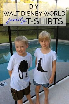 DIY Walt Disney World T-Shirts for the Family