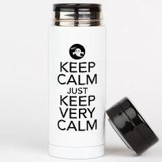 Keep Calm just Keep Very Calm Tea Tumbler> Keep Calm just Keep Very Calm> Victory Ink Tshirts and Gifts