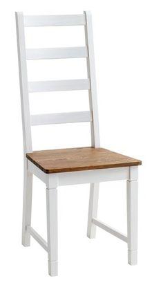 6 pcs chaise salle manger en bois blanc achat vente for Salle a manger jysk