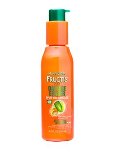 Garnier Fructis Damage Eraser Split End Bandage (leave-in treatment). Vote best leave-in by FamilyCircle Mag. Says to apply before bed.