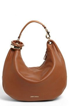 Jimmy Choo 'Solar - Large' Leather Hobo available at #Nordstrom