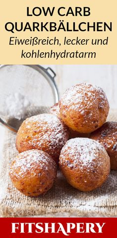 Leckere Low Carb Quarkbällchen, die im Vergleich zum klassischen Rezept kalorie. - Low Carb RezepteDelicious low carb quark balls that are low in calories and healthy compared to the classic recipe. Here you will find the quick recipe and many Low Carb Diets, Low Carb Pizza, Low Carb Soup Recipes, Low Carb Desserts, Thai Recipes, Diet Recipes, Quick Recipes, Salad Recipes, Dessert Recipes