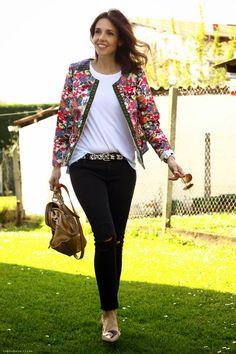 chaquetas de flores