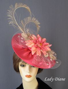 Fascinator Hats - Lady Diane Hats