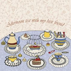 Tea time by Maria Galybina, via Behance