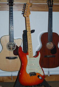 Fender Stratocaster, Fender Acoustic, Fender Custom Shop, Music Wallpaper, Electric Guitars, Cherry, Music Instruments, Shopping, Guitars