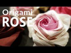 美濃和紙で作る折り紙の薔薇、佐藤ローズ(Sato Naomiki Rose)   いまじん東海