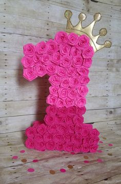 Number Four piñata Hot pink piñata Hot Pink party number Hello Kitty Birthday, Pink Birthday, 1st Birthday Girls, Princess Birthday, 1st Birthday Parties, Girl Birthday Decorations, First Birthday Themes, Girl Baby Shower Decorations, Princess Pinata