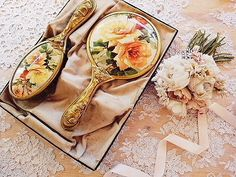 Vintage Rose ~ A Thing of Beauty! All Is Vanity, Old Vanity, Dresser Vanity, Vanity Room, Dresser Sets, Vanity Tray, Vintage Vanity, Vanity Set, Vanity Fair