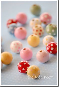 Very easy DIY bead (or gumball) and ribbon knot necklace.  Paint your own wooden beads to get the exact look you want....or find some you already like....or use gumballs.  :)