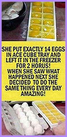 The taste of frozen eggs is similar to the taste when they are thawed. So, grab more eggs when they are on sale or use them up when you have a lot about to expire too. All you have to do is take an ice cube tray, crack the eggs and add them in it … Herbal Remedies, Health Remedies, Natural Remedies, Holistic Remedies, Health Guru, Health And Nutrition, Gut Health, Natural Herbs, Natural Healing