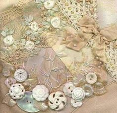 Button cluster ~ I like this for a section on a crazy quilt project! #inspiration