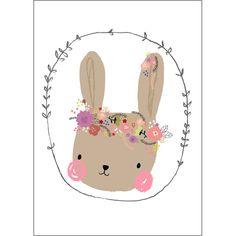 Carte Lapin heureux (10.5 x 14.8 cm) - Petite Louise